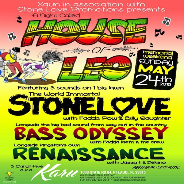 Stone Love  - House Of Leo -  24th May 2015 - Promo