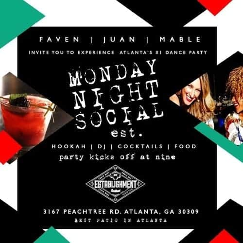 Mix Master David Monday Night Social in Buckhead Atlanta