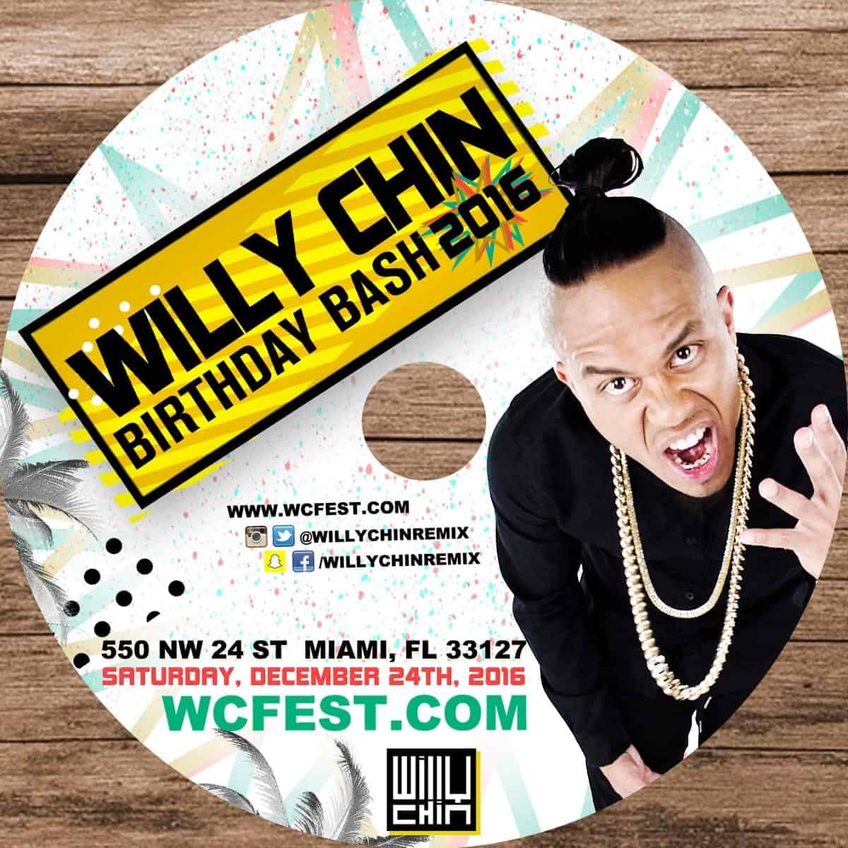 Willy Chin Birthday Bash 2016 Promo Mix