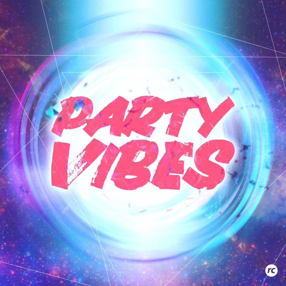 Dj Blue - Party Vibes feat Nicky B - Graphic design