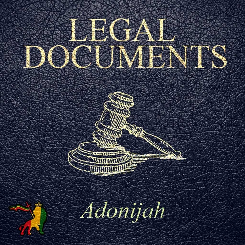 Ras Adonijah - Legal Documents - Reggae