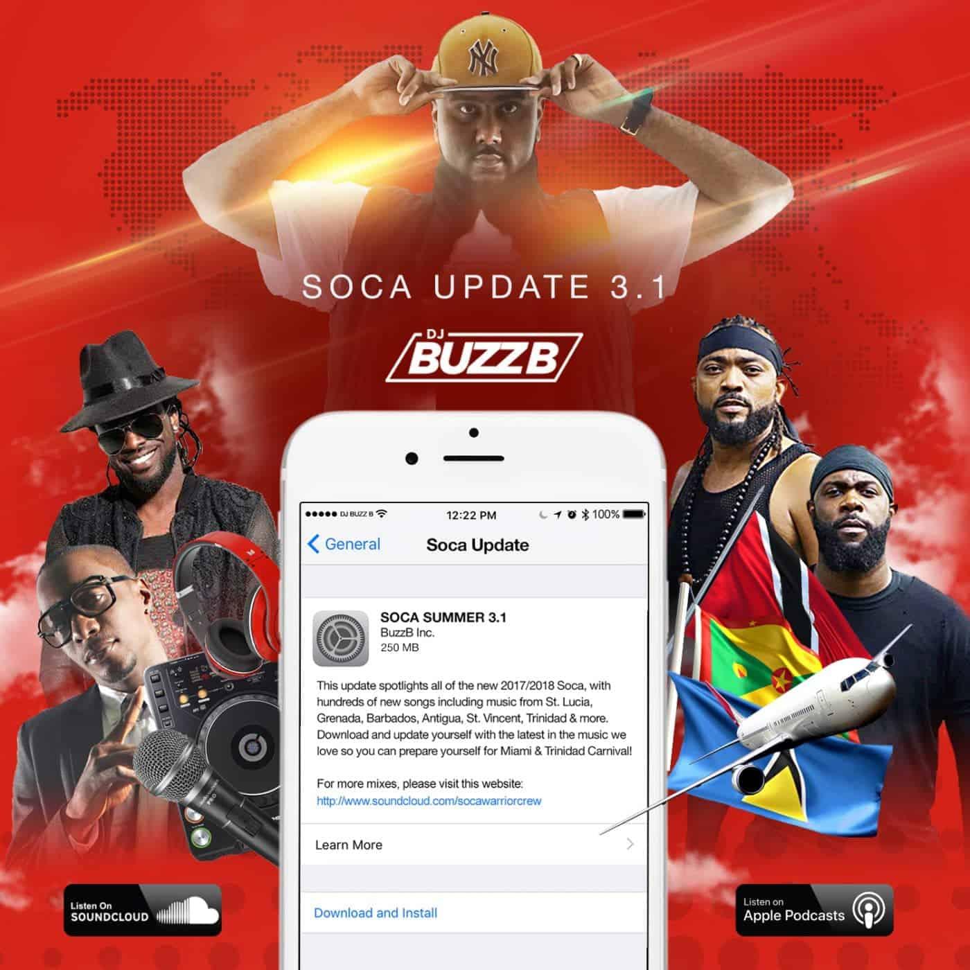 SOCA UPDATE 3.1 MIXED BY DJ BUZZB - 2017 / 2018 SOCA MIX