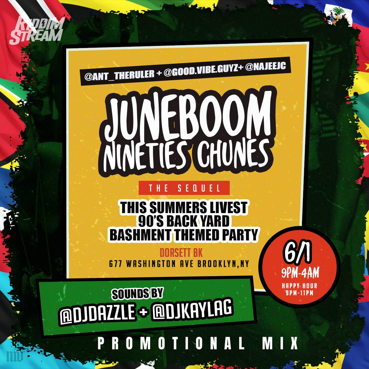"Dj Kayla G - #JUNEBOOM90sCHUNES ""The Sequel"" (Dancehall & Soca PROMO Mix)"